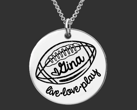 Football Personalized Necklace