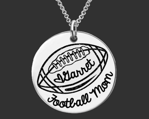 Football Mom Personalized Necklace