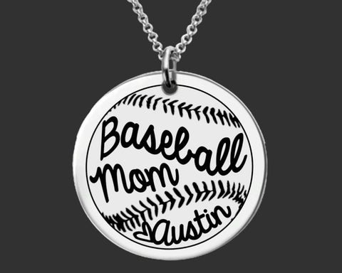 Baseball Mom Personalized Necklace