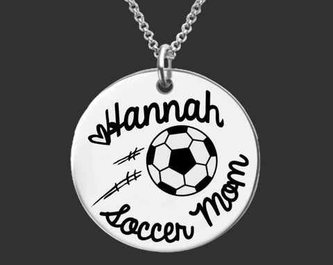Soccer Mom Personalized Necklace