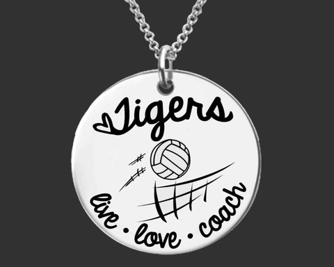 Volleyball Coach Personalized Necklace
