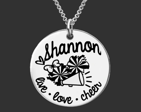 Cheerleader Personalized Necklace