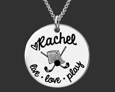 Field Hockey Player Necklace