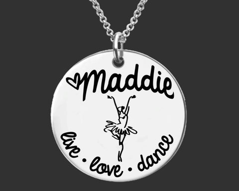 Dance Personalized Necklace | Dancer Gift