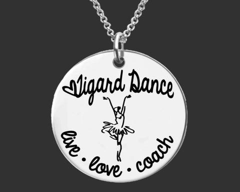 Dance Coach Personalized Necklace