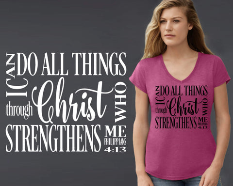 I Can Do All Things T-shirt | Christian T shirt
