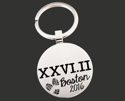XXVI.II Personalized Marathon Key Chain