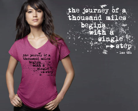 The Journey Of Thousand Miles T-shirt