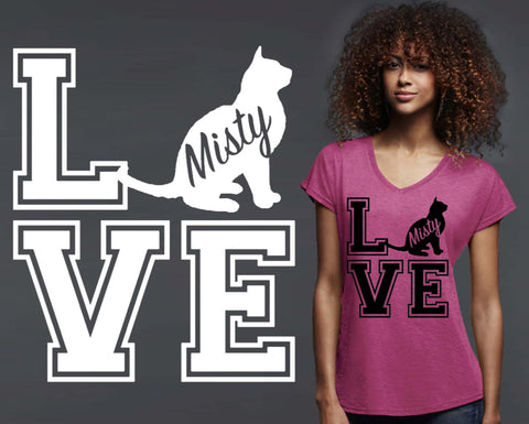Burmese Cat Love Personalized T-shirt