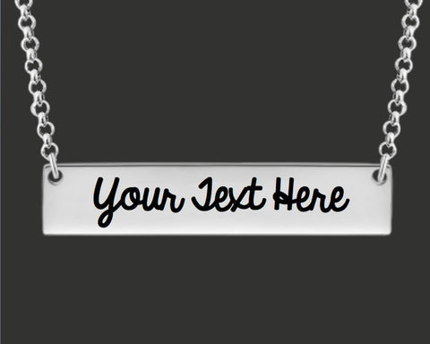 Your Message Here | Custom Personalized Bar Necklace
