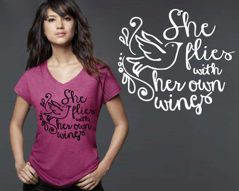 She Flies With Her Own Wings T-shirt | Women's Empowerment