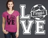 Soccer Love Personalized T-shirt