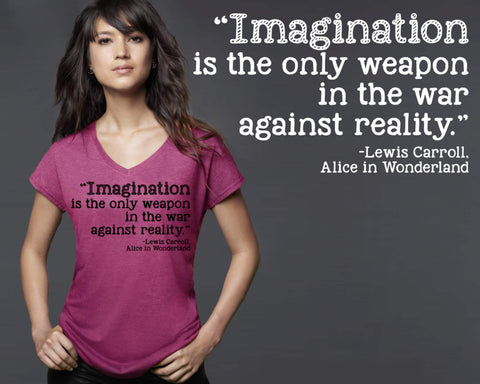Imagination Is the Only Weapon T-shirt | Alice In Wonderland