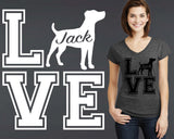 Jack Russell Dog Love Personalized T-shirt