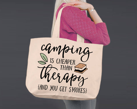 S'mores | Personalized Canvas Tote Bag