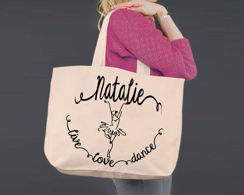 Dance | Personalized Canvas Tote Bag