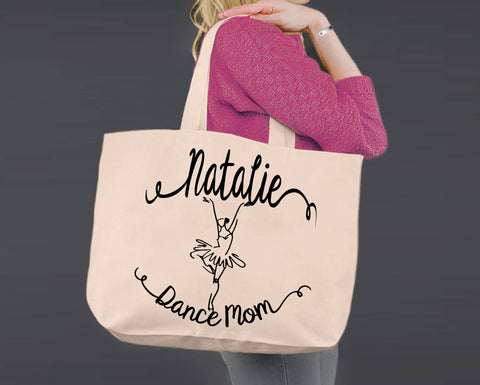 Dance Mom | Personalized Canvas Tote Bag