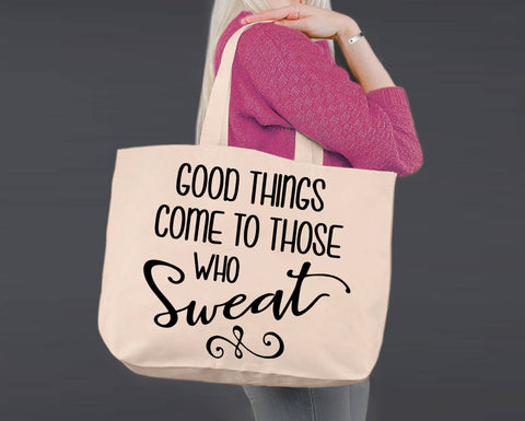Those Who Sweat | Personalized Canvas Tote Bag