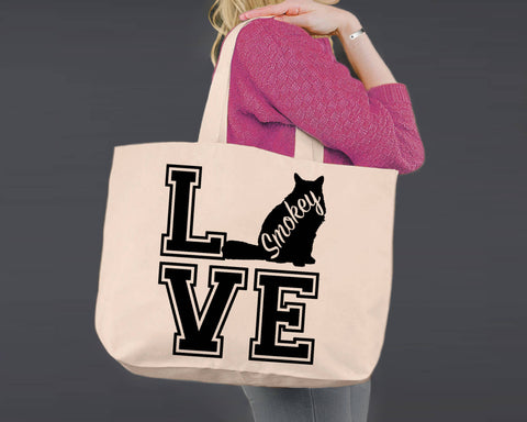 Himalayan Cat Love | Personalized Canvas Tote Bag