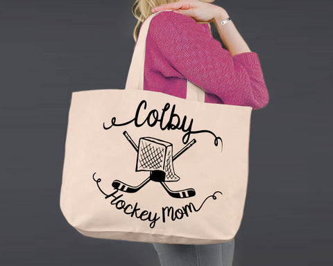 Hockey Mom | Personalized Canvas Tote Bag