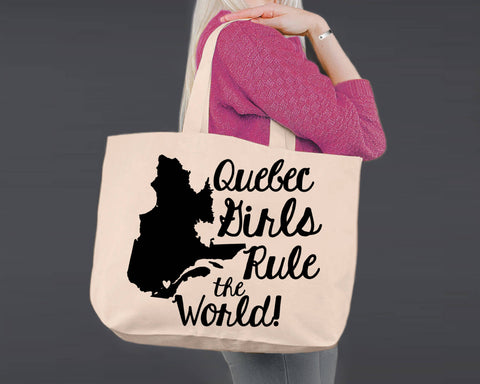 Quebec | Personalized Canvas Tote Bag