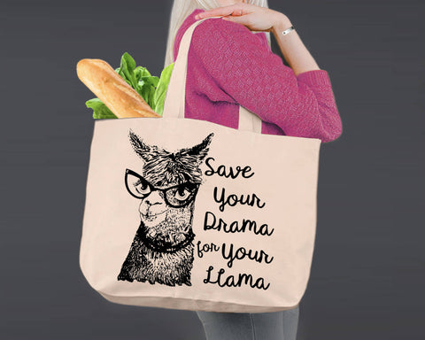 Save The Drama | Personalized Canvas Tote Bag