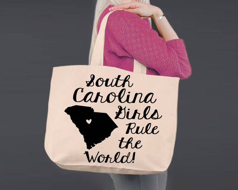 South Carolina | Personalized Canvas Tote Bag
