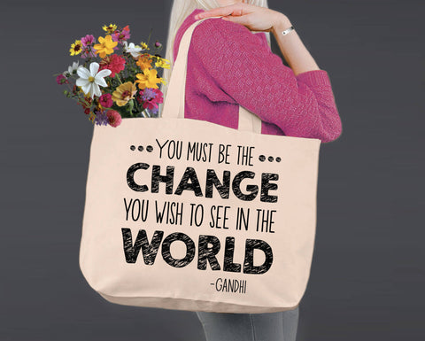 Be the Change | Gandhi | Canvas Tote Bag