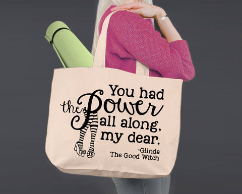 You Had the Power | Wizard of Oz | Canvas Tote Bag