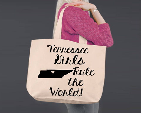 Tennessee | Personalized Canvas Tote Bag