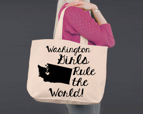 Washington | Personalized Canvas Tote Bag