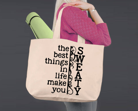 The Best Things In Life | Personalized Canvas Tote Bag