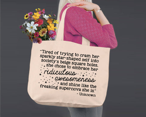 Ridiculous Awesomeness | Personalized Canvas Tote Bag