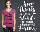 Give Thanks to the Lord T-shirt | Christian T shirt