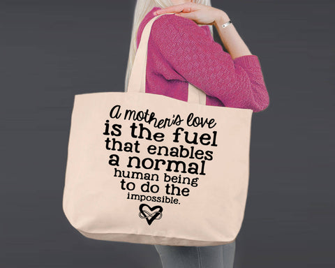 A Mother's Love | Personalized Canvas Tote Bag