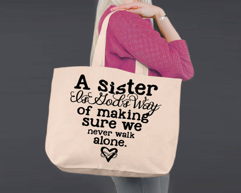 A Sister is | Personalized Canvas Tote Bag
