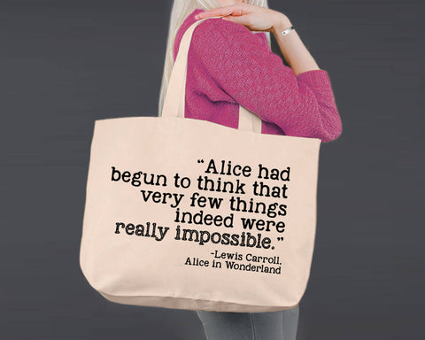 Really Impossible | Alice In Wonderland | Canvas Tote Bag