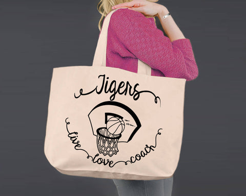 Basketball Coach | Personalized Canvas Tote Bag