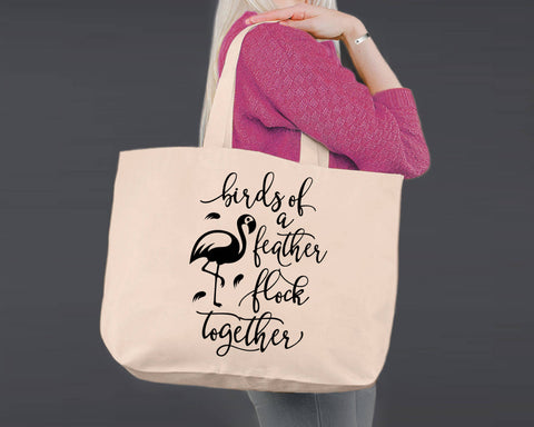 Birds of a Feather | Personalized Canvas Tote Bag
