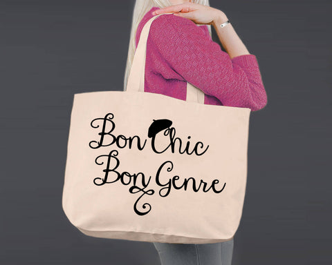 Bon Chic Bon Genre | Personalized Canvas Tote Bag