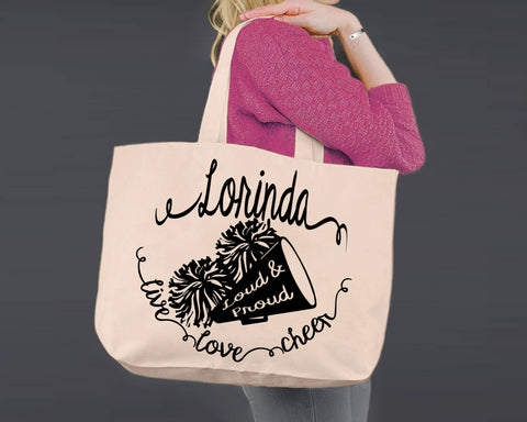 Cheer | Personalized Canvas Tote Bag