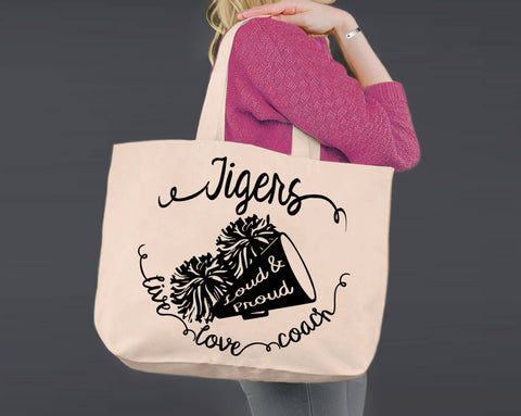 Cheer Coach | Personalized Canvas Tote Bag