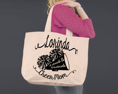 Cheer Mom | Personalized Canvas Tote Bag
