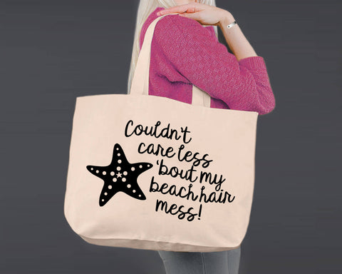 Beach Hair | Personalized Canvas Tote Bag