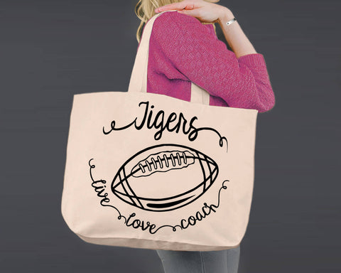 Football Coach | Personalized Canvas Tote Bag