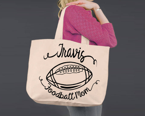 Football Mom | Personalized Canvas Tote Bag