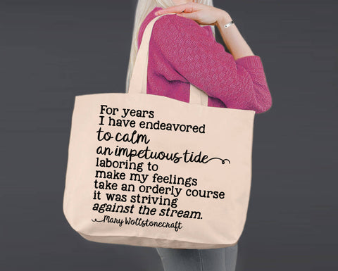 To Calm an Impetuous Tide | Mary Wollstonecraft | Canvas Tote Bag