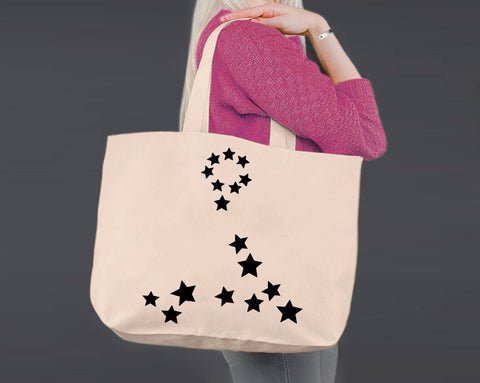 Pisces | Personalized Canvas Tote Bag