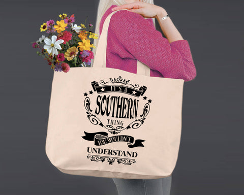 Southern Thing | Personalized Canvas Tote Bag