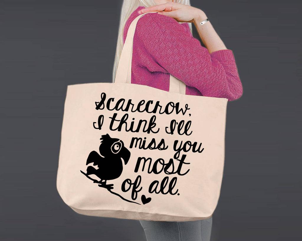 Scarecrow I Will Miss You Wizard Of Oz Canvas Tote Bag Korena